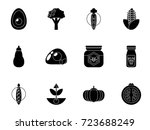 organic food icons | Shutterstock .eps vector #723688249