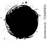 grunge paint label. vector... | Shutterstock .eps vector #723689851