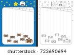 preschool worksheet for... | Shutterstock .eps vector #723690694