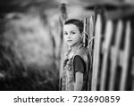 adorable boy portrait | Shutterstock . vector #723690859