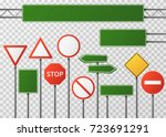 blank street traffic and road... | Shutterstock .eps vector #723691291