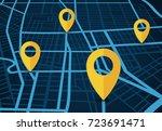 gps navigation service vector... | Shutterstock .eps vector #723691471