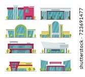 contemporary shopping mall and... | Shutterstock .eps vector #723691477