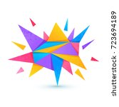 abstract background with... | Shutterstock .eps vector #723694189