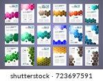 brochure template  flyer design ... | Shutterstock . vector #723697591