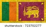 flag of sri lanka | Shutterstock . vector #723702277