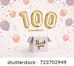 100 follower  100 like thank... | Shutterstock . vector #723702949