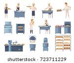 Bakery Set Of Cartoon Icons...