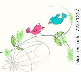 Cute Floral Spring Birds...