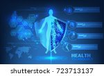 abstract technological health... | Shutterstock .eps vector #723713137