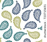 seamless pattern of beautiful... | Shutterstock .eps vector #723715651