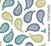 seamless pattern of beautiful... | Shutterstock .eps vector #723715651