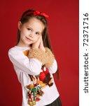 Adorable Preschool Girl Wearin...