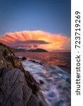 atomic sunset | Shutterstock . vector #723719269