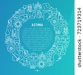 world asthma day concept in... | Shutterstock .eps vector #723719314