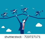 support business. teamwork... | Shutterstock .eps vector #723727171