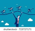 support business. teamwork... | Shutterstock .eps vector #723727171