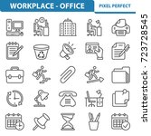 workplace and office icons....   Shutterstock .eps vector #723728545