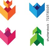 abstract vector icons  ...   Shutterstock .eps vector #723730105