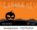 happy halloween party | Shutterstock .eps vector #723731314
