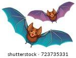 bats. | Shutterstock .eps vector #723735331