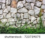 seamless stone surface and... | Shutterstock . vector #723739075