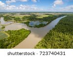 the helicopter shot from dhaka  ... | Shutterstock . vector #723740431