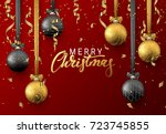 christmas background with... | Shutterstock .eps vector #723745855