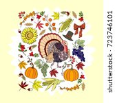 thanksgiving day. background... | Shutterstock .eps vector #723746101