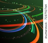 abstract curving lines ray of...   Shutterstock .eps vector #723752764