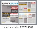 newspaper online template...   Shutterstock .eps vector #723765001