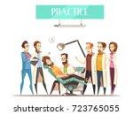 dentist practice flat vector... | Shutterstock .eps vector #723765055