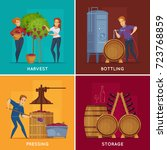 winery production concept 4... | Shutterstock .eps vector #723768859