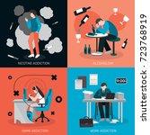 addictions people flat 2x2... | Shutterstock .eps vector #723768919