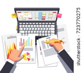 business analyst or auditor... | Shutterstock .eps vector #723770275