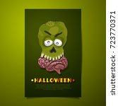 halloween zombie with scary... | Shutterstock .eps vector #723770371