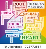 the 7 chakras word cloud... | Shutterstock .eps vector #723773557