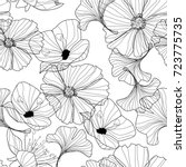 flowers pattern | Shutterstock .eps vector #723775735