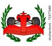 red racing car with a laurel... | Shutterstock .eps vector #72377680