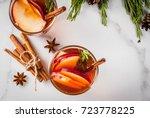 christmas  thanksgiving drinks. ... | Shutterstock . vector #723778225