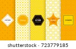 bright yellow seamless pattern... | Shutterstock .eps vector #723779185