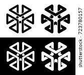 cube 3d frame black simple... | Shutterstock .eps vector #723780157