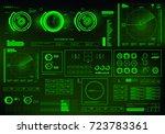 futuristic green virtual...