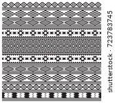 american indians tribal texture ... | Shutterstock .eps vector #723783745