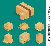 different box vector isometric... | Shutterstock .eps vector #723785329