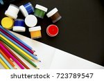 several school items | Shutterstock . vector #723789547