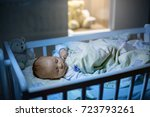 adorable newborn baby boy ... | Shutterstock . vector #723793261