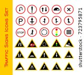 road signs icons set | Shutterstock .eps vector #723795871