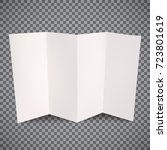 piece of white paper with folds ... | Shutterstock .eps vector #723801619