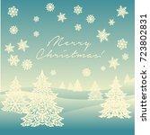 merry christmas ornament... | Shutterstock .eps vector #723802831